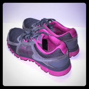 Nike Pink and Gray running shoes
